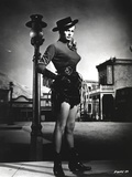 Anita Ekberg standing on the Street Near the Street Lamp in Classic Portrait Photo by  Movie Star News