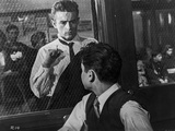 James Dean Scene from a Film Knocking on a Reinforced Glass Window Photo by Floyd Mccarty