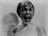 Psycho Scene of Woman Screaming while Taking a Bath Excerpt from Film in Black and White Photo by  Movie Star News