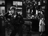 Marlon Brando Movie Scene with a Man in Black Leather Jacket Talking to a Woman Photo by  Movie Star News