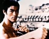 Bruce Lee Fighting Posed in Topless with Closed Knuckles- Photograph Print Photo by  Movie Star News