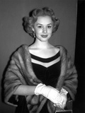 Piper Lauire Posed in a Portrait wearing Fur Coat with Gloves Photo by  Movie Star News