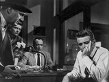 James Dean Scene from a Film Seated on Chair in White Long Sleeve Shirt with Left Hand on the Mouth Photo by Floyd Mccarty