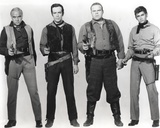 Bonanza Pointing Pistol in Black and White Group Portrait Photograph Print Photo by  Movie Star News