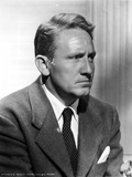 Spencer Tracy Cast Member Looking Away wearing Formal Suit in Black and White Portrait Photo by  Movie Star News