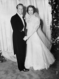 Jeanette MacDonald standing in White Long Sleeve Wedding Gown Photo by  Movie Star News