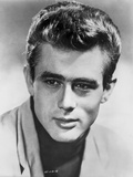 James Dean Portrait in White Linen Shirt and Black Turtle Neck Shirt with Head Turn to Right Photo by  Movie Star News