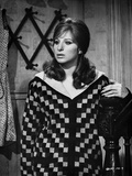 Barbra Streisand Leaning On Stair in Checkered Long Sleeves Photo by  Movie Star News