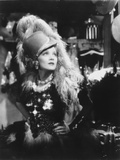 Marlene Dietrich Looking Side Ways in Black and White Dress with Feather Headdress Photo by  Movie Star News