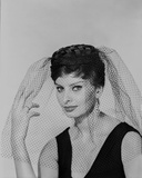 Sophia Loren wearing a Black Tank top and a Veil in a Classic Portrait Photo by  Movie Star News