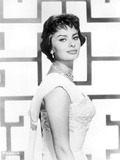 Sophia Loren wearing a Sleeveless Dress with Matching Necklace in a Portrait Photo autor Movie Star News