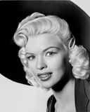 Jayne Mansfield Close Up Portrait in Black V-Neck Velvet Dress and Black Hat Photo by  Movie Star News