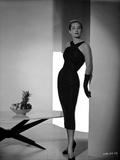 Vera Miles wearing a black, cocktail length, crossed-halter dress Photo by  Movie Star News