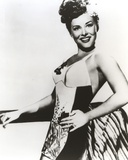 Paulette Goddard Posed with One Hand on Waist in Sexy Printed Dress Portrait Photo by  Movie Star News
