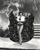 Jane Russell Posed in White V-Neck Sleeveless Top and Black Long Skirt Photo by  Movie Star News