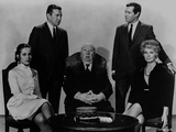 Hitchcock Alfred with Two Men standing and Two Ladies sitting Photo by  Movie Star News