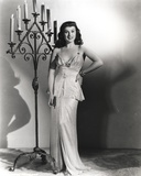 Paulette Goddard Posed with One Hand on Waist wearing Elegant Dress Photo by  Movie Star News