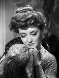 Bette Davis Portrait Hand on the Chin in Long Sleeve Silk Dress with Top Knot Hair Photo by  Hurrell