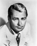 Alan Ladd smiling and Facing at the Camera in Black and White Portrait Photo by  Movie Star News