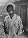 Al Jolson Giving a Funny Face wearing a Farmers Outfit in a Classic Portrait Foto von Florence Vandamm