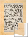 Boxe (Boxing) Wood Print
