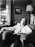 James Dean Seated and Leaning Back on a Couch in White Long Sleeve Collar Shirt Photo by Floyd Mccarty