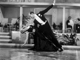 Fred Astaire and Ginger Rogers Dancing in Black Dress and Black Tuxedo with Audience Watching Photo by  Movie Star News