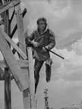 James Dean Posed in Fur Collar Velvet Long Sleeve Coat with Hands Holding a Rifle Photo by  Movie Star News