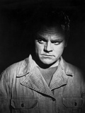 James Cagney Portrait in Cotton Jacket and Black Round Neck Shirt with Face Highlighted Photo by  Hurrell