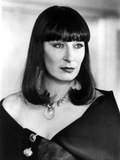Anjelica Huston Looking the Left wearing a Black Blazer with Necklace in Classic Portrait Photo by  Movie Star News
