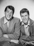 Dean Martin and Jerry Lewis Posed in Coat with White Collar Photo by  Movie Star News