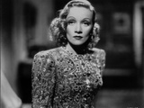 Marlene Dietrich Posed in Classic Floral Dress with Curly Hairstyle Photo by  Movie Star News