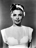 Lena Horne wearing Silk Dress with Hat Portrait in Black and White Photo by  Movie Star News