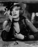 Marlene Dietrich in Black and White Dress with Black Background Photo by  Movie Star News