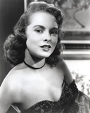 Janet Leigh Posed in Black Strapless Sequin Dress and Black Ribbon Choker Photo by  Movie Star News
