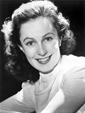 Geraldine Fitzgerald on Long Sleeve Top smiling Portrait Photo by  Movie Star News