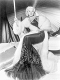 Mae West wearing Black And White Dress in Black and White Photo by  Movie Star News