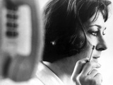 Anjelica Huston Smoking Near a Payphone in Classic Portrait Photo by  Movie Star News