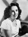 Elizabeth Taylor smiling in Black and White with White Blouse Photo by CS Bull