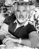 Kenny Rogers in Black and White polo shirt Close Up Portrait Photo by  Movie Star News