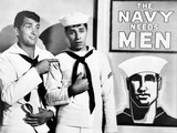 Dean Martin and Jerry Lewis Scene with Two Men wearing Navy Uniform Photo by  Movie Star News