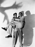 Dean Martin and Jerry Lewis Portrait with Shadows in Black and White Photo by  Movie Star News