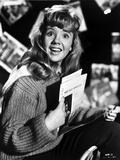 Hayley Mills wearing a Knitted Sweater Holding a Paper Photo by  Movie Star News