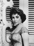 Elizabeth Taylor Serious Posed in Black and White with Earrings Photo by  Movie Star News