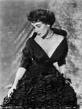 Elizabeth Taylor Posed in Gown with Necklace and Earrings Photo by  Movie Star News