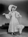 Judy Garland fancy in dress hat and umbrella +tograph High Qua... Photo by  Movie Star News