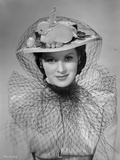 Maureen O'Hara Close Up Portrait wearing Veil with Rabbit on Top Photo by E Bachrach