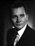 Denholm Elliott in Black With Black and White Background Photo by  Movie Star News