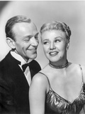 Fred Astaire and Ginger Rogers smiling in Black and White Portrait Photo by  Movie Star News