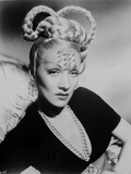 Marlene Dietrich Posed in Black Dress with Braided Hairstyle Photo by  Movie Star News